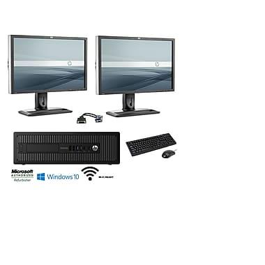 Refurbished HP 800 G1 Bundle Desktop (Includes [2] 24