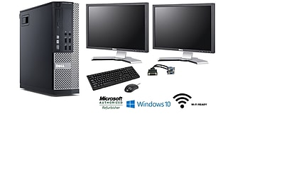 Refurbished Dell Optiplex Bundle Desktop (Includes [2] 22