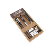 Grillight 3 Pc. Stainless Steel Spatula, Tongs & Brush Set