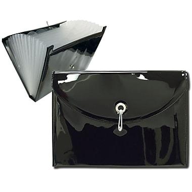 Better Office Products - Classeur expansible à 7 pochettes, verni noir (50428)
