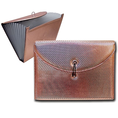 Better Office Products 7-pocket Expanding File, Rose Gold (50495)