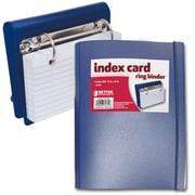 Better Office Products – Mini reliure à 2 anneaux en D de 1 po pour cartes fiches, 100 cartes 3 x 5 po, couleurs variées 61331