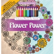 Newbourne Flower Power Coloring Book Kit