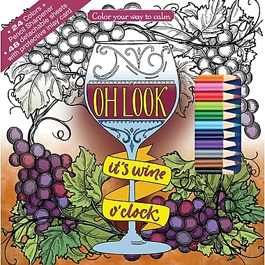 Newbourne Oh Look It's Wine O'Clock Coloring Kit