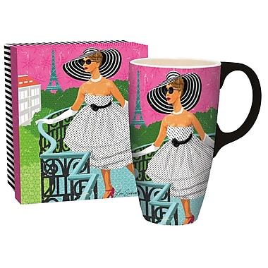 Lang - Grosse tasse en céramique pour café au lait (10995036271) 18 oz., femme sophistiquée