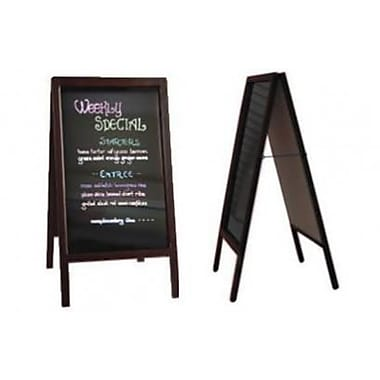 Eddie's Hang-Up Display Ltd. – Tableau noir en chevalet, 39 1/2 haut x 20 1/2 larg. (po) (130440)