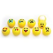 Emoji Lip Balm Balls, Mixed Fruit Flavors, Set of 10 Emoticon Themed Balls
