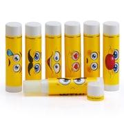 Emoji Lip Balm Sticks, Vanilla Flavor, Set of 36 Emoticon Themed Sticks