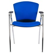 Charm Furniture Modern Fabric Upholstered Stacking Guest Chair ; Blue
