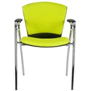 Charm Furniture Modern Fabric Upholstered Stacking Guest Chair ; Green