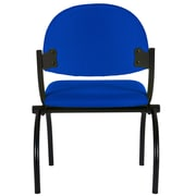 Charm Furniture Fabric Comfortable Metal Stacking Chair; Blue