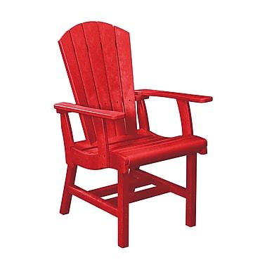 Latitude Run Bender Dining Arm Chair; Red