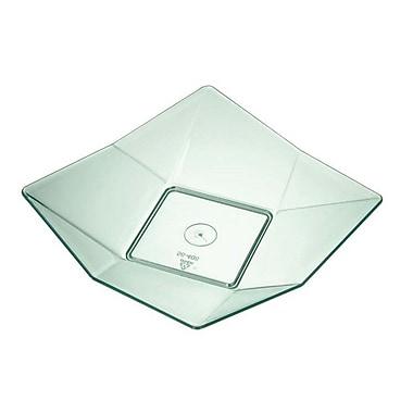 Starplast Octave Mini Plastic Appetizer Dish (Set of 500); Transparent Green