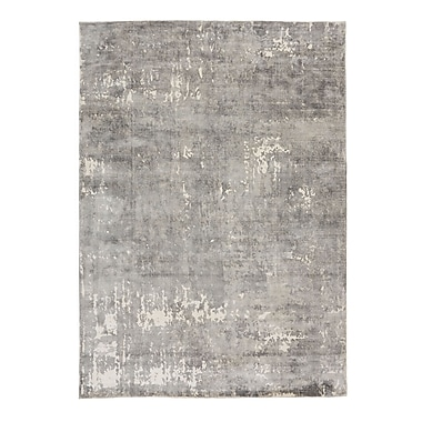 17 Stories Bengta Hand-Knotted Gray Area Rug; 5'7'' x 7'9''