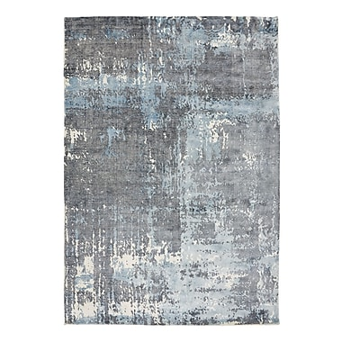 17 Stories Bengta Hand-Knotted Blue Area Rug; 5'7'' x 7'9''
