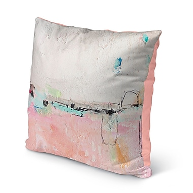Ivy Bronx Lyka Pink Indoor/Outdoor Throw Pillow; 16'' H x 16'' W x 8'' D