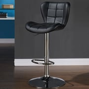 Orren Ellis Lexie Adjustable Faux Leather Stool (set of 2); Black