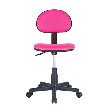 Symple Stuff Armless Desk Chair; Pink
