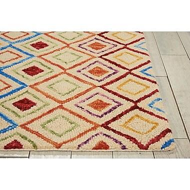 Bloomsbury Market Zosia Hand Tufted Wool Ivory Indoor Area Rug; 5' x 7'6''