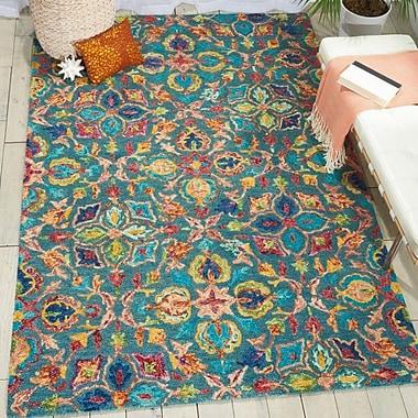 Bloomsbury Market Zosia Hand Tufted Wool Teal Area Rug; Runner 2'3'' x 7'6''