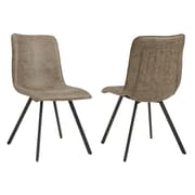 Union Rustic Shanelle Upholstered Dining Chair (Set of 2); Vintage Brown
