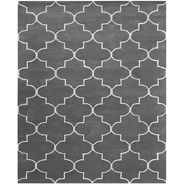 Charlton Home Ladd Hand-Tufted Gray Area Rug; 8' x 11'