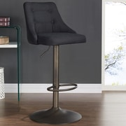 Brayden Studio Judkins Fabric Adjustable Height Stools; Black