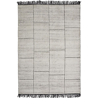 Everly Quinn Bourquin Hand-Knotted White Area Rug; 6'6'' x 9'8''
