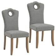 Darby Home Co Bentonville Fabric Upholstered Dining Chair (Set of 2); Gray/Light Gray