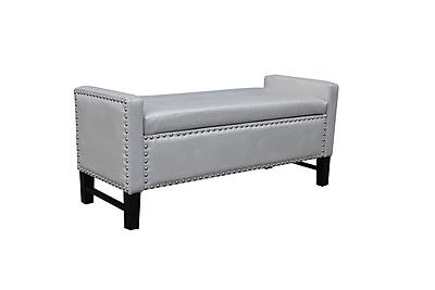 Darby Home Co Vandalia Storage Bench; Pearl