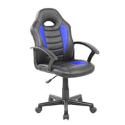 Latitude Run Kid's Gaming and Student Racer Chair w/ Wheels; Blue