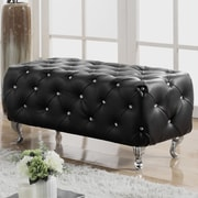 Mercer41  Hitchin Faux Leather Bedroom Bench; Black