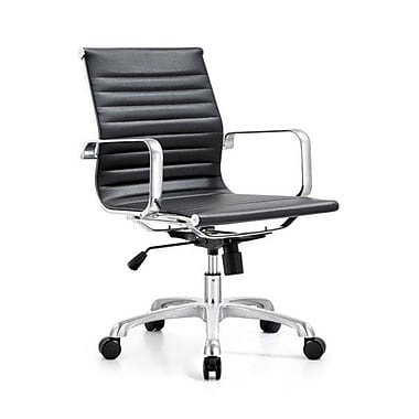 Latitude Run Braun Mid-Back Modern Desk Chair; Black