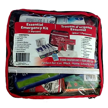 Emergency Zone Individual Essentials Emergency Survival Kit, 6/Pack