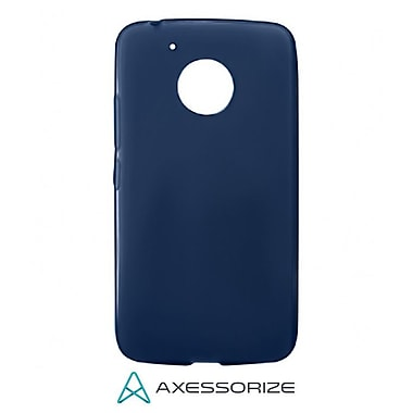 Axessorize Tempered Glass Screen Protector/Cell Phone Case Combo for Moto G5, Blue (MOTO1201)