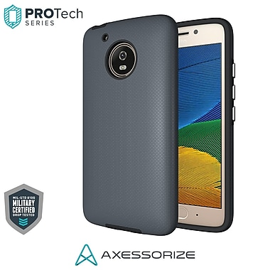 Axessorize PROTech Cell Phone Case for Moto G5, Army Grey (MOTOR1203)