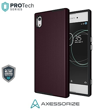 Axessorize PROTech Cell Phone Case for Sony Xperia XA1, Burgundy Red (SONR1402)