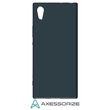 Axessorize Tempered Glass Screen Protector/Cell Phone Case Combo for Sony Xperia XA1, Blue (SON1401)