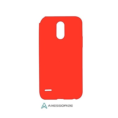 Axessorize Tempered Glass Screen Protector/Cell Phone Case Combo for LG Stylo 3 Plus, Candy Red (LG1603)