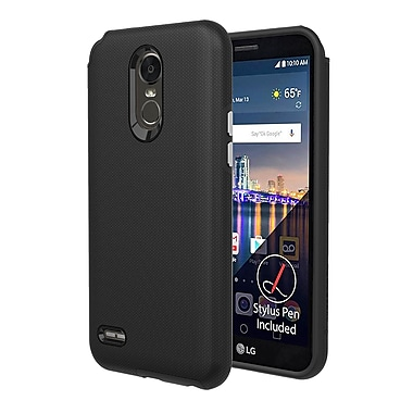 Axessorize PROTech Cell Phone Case for LG Stylo 3 Plus, Black (LGR1600)