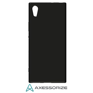 Axessorize Tempered Glass Screen Protector/Cell Phone Case Combo for Sony Xperia XA1, Black (SON1400)