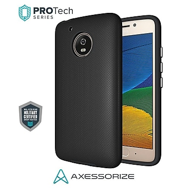 Axessorize PROTech Cell Phone Case for Moto G5, Black (MOTOR1200)