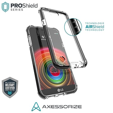Axessorize PROShield Cell Phone Case for LG X Power 2, Black (LGP1550)