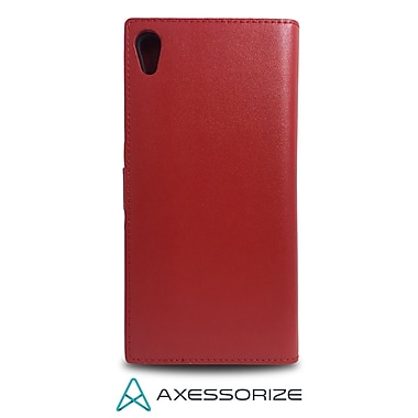 Axessorize Folio Cell Phone Case for Sony Xperia XA1 Ultra, Red (FOLSONX1UR)