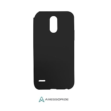 Axessorize Tempered Glass Screen Protector/Cell Phone Case Combo for LG Stylo 3 Plus, Black (LG1600)