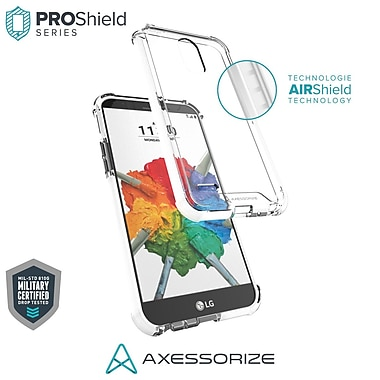 Axessorize PROShield Cell Phone Case for LG Stylo 3 Plus, White (LGP1601)