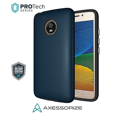 Axessorize PROTech Cell Phone Case for Moto G5, Cobalt Blue (MOTOR1201)