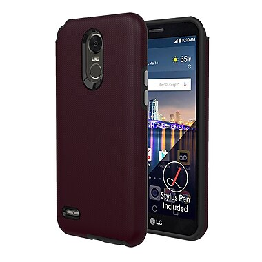 Axessorize PROTech Cell Phone Case for LG Stylo 3 Plus, Burgundy Red (LGR1602)