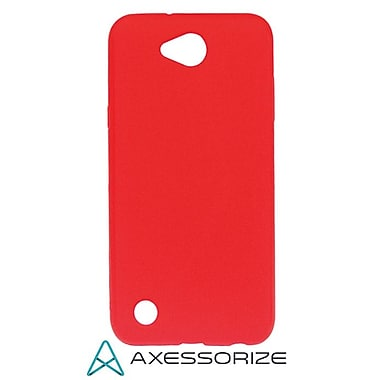 Axessorize Tempered Glass Screen Protector/Cell Phone Case Combo for LG X Power 2, Candy Red (LG1553)