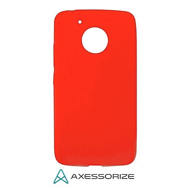 Axessorize Tempered Glass Screen Protector/Cell Phone Case Combo for Moto G5, Candy Red (MOTO1203)